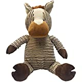 A fun and cute toy to share with your pet Includes two squeakers Package contains one long corduroy plush toy measuring approximately 16-1/2 inches