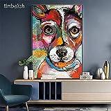 KWzEQ Imprimir en Lienzo Decoración Colorida del hogar de la Imagen del Arte de la Pared de los Animales del Perro para los Carteles de la Sala de estar50x75cmPintura sin Marco
