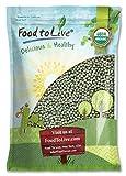 Organic Green Peas, 10 Pounds - Sproutable, Non-GMO, Kosher, Raw, Dried