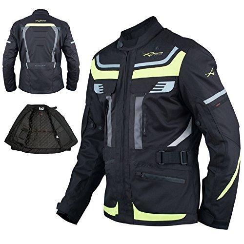 A-Pro Motorradjacke Touring Roller Textil Termofutter Wasserdichte Fluo M