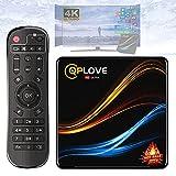 Android TV Box RK3318, [Nuovo nel 2021] QPLOVE Q9 Android TV Box 4GB RAM 32GB ROM Dual WiFi Quad Core 64-bit 2.4G/5G Supporto 4K 3D Ultra HD TV Box