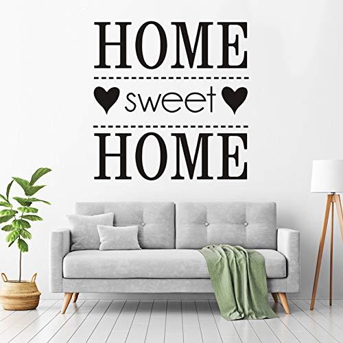 """Merysan - Adesivo da parete rimovibile con citazione per la casa con scritta """"Home Sweet Home"""" (lingua italiana non garantita)"""