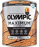 Olympic Stain 56504-1 Maximum Wood Stain and Sealer, 1 Gallon, Transparent Stain, Redwood Naturaltone