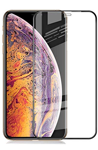 Aeidess Tempered Glass for Apple iPhone XR (Black)-Edge to Edge Full Screen Coverage