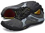 SAGUARO Hombre Mujer Zapatillas Barefoot Minimalistas Calzado de Training Ligeras Cómodas para Caminar Senderismo Ciclismo Trail Running Trekking Playa Agua Exterior Interior, Cuervo Negro, 44