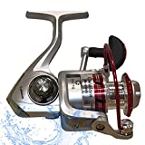 Fishing Reels Spinning Reel Open Face - Powerful 5.2:1 Smooth Spinning Reels Freshwater Good Casting Distance for Inshore Freshwater Bass and Sport Fish - Remi 3000 Spinning Reel - Left/Right Hand