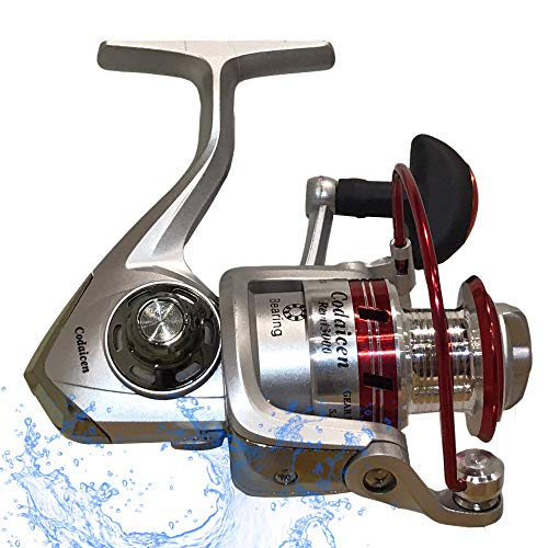 Spinning Fishing Reel Open Face - Powerful 5.2:1 Smooth Reel with Good Casting Distance for Inshore Freshwater Bass and Other Sport Fish - Remi 3000 Spinning Reel - Left/Right Handle