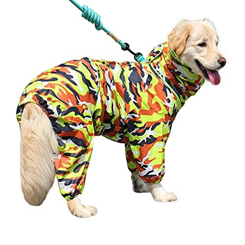 ZIGJOY Impermeabile per Cani Mantella per Cani Domestici per Cani di Piccola, Media e Grande Taglia (Camuffare Verde 20)