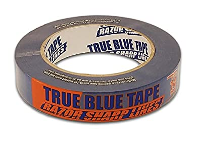 True Blue Premium Blue Professional Painter's Masking Tape – Indoor and Outdoor Use – Commercial Grade - Available in 2 Widths – Works on a Variety of Surfaces