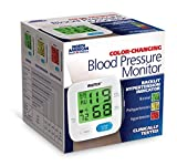 """WrisTech North American Health Wellness Color Changing Wrist Blood Pressure Monitor with Green Yellow Red Coded Readings on 2"""" LCD Screen and Irregular Heartbeat Indicator One Size Fits All, Assorted"""