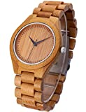 Fashion Handmade Wooden Watch with 100% Natural Bamboo