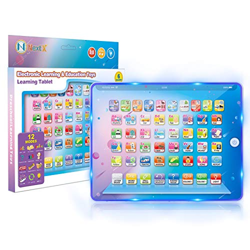 NextX Baby & Toddler Toys,Electronic Learning & Education Tablet Interactive ABC & 123s & Songs with Light, Touch and Learn Spelling Words with Development Musical Preschool Toy