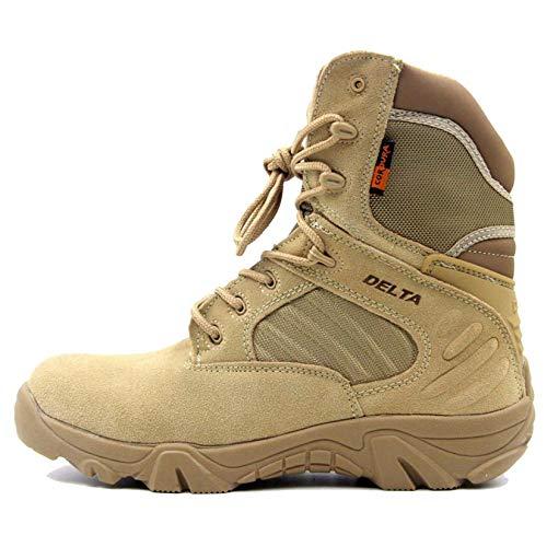 Stivali da Trekking Tattici da Uomo Outdoor Autunno Inverno Traspirante Desert Camping Stivaletti Sneakers Alte Scarpe da Viaggio Stringate