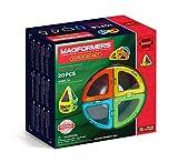 Magformers Curve 20 Pieces Rainbow Colors, Educational Magnetic Geometric Shapes Tiles Building STEM Toy Set Ages 3+