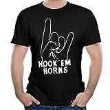 WYF Mens T-Shirt-Classic Hook Em Horns Black M