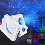 AsperX Night Light Projector, 3-in-1 Adjustable Starry LED Star Projector with Timer Auto