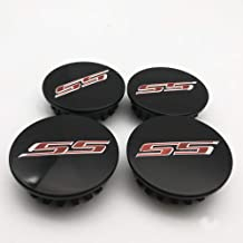 4 Pieces New 67mm 2 5/8 inch Black Red Word SS Letter Car ABS Custom Rim Hub Wheel Center Centre Caps Cover Hubcaps for Camaro 2016-2017 19351757
