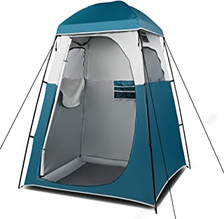 VINGLI 6.7FT Shower Tent, Changing Room Tent for Portable Toilet, with Mesh Floor and Carrying Bag, Lightweight & Sturdy, ...