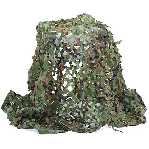 QIANMEI Velas de Sombra Toldos para Patio Nets de Camuflaje | Red Militar Liviana Duradera sin cuadrícula | Decoración de sombreado Duradero liviano de la Red del ejército