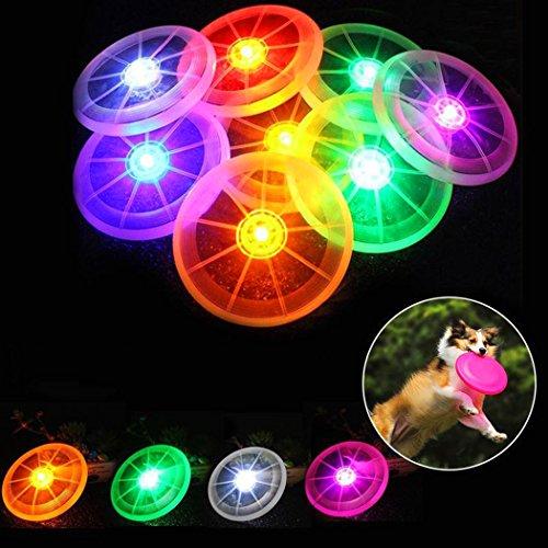 Xiaoyu pet Dog LED Fliegende LED Scheiben, Haustier Hund/Kinderspielzeug, 2er Pack, zufällige Farben