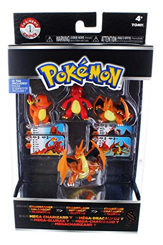 Pokemon XY Trainers Choice 4 Figure Pack Charmander Charmeleon Mega Charizard Y