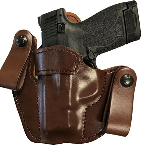 Concealed Carry Leather Gun Holster for Ruger LCR 38 LH Left Hand Brown Concealed Carry Xtreme Duty