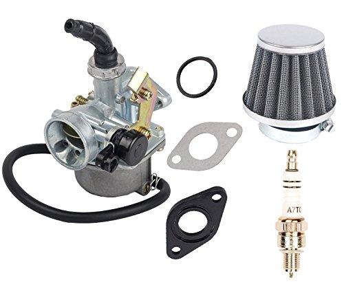 OxoxO Remplacement PZ19 PZ 19 mm câble choke carburateur carburateur filtre à air bougie d'allumage avec joint torique pour 90cc 110cc 125cc ATV Quad Dirt Bike TaoTao Sunl