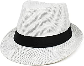 Womens Mens Woolen Party Headwear Winter Fedora Solid Short Brim Hat TM XueXian
