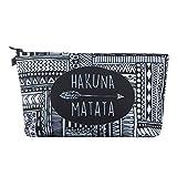Women Cosmetic Bag,Leewos 3D Printed Cosmetic Bag Small Makeup Pouch Storage Holder Travel Case Cosmetic Makeup Bag (Hakuna Matata)