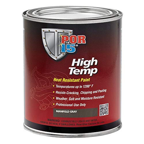 POR-15 High Temperature Heat Resistant Paint,Gray,8 Fluid Ounce