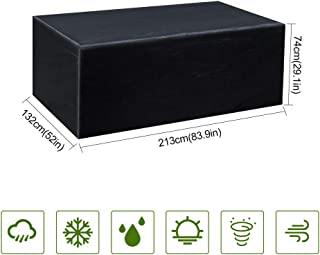 Gurkkst Funda Protectora para Muebles de jardín Funda Muebles Exterior Impermeable Anti-UV Protección Cubierta de Muebles de Mesas Oxford Negro (213x 132x 74cm)