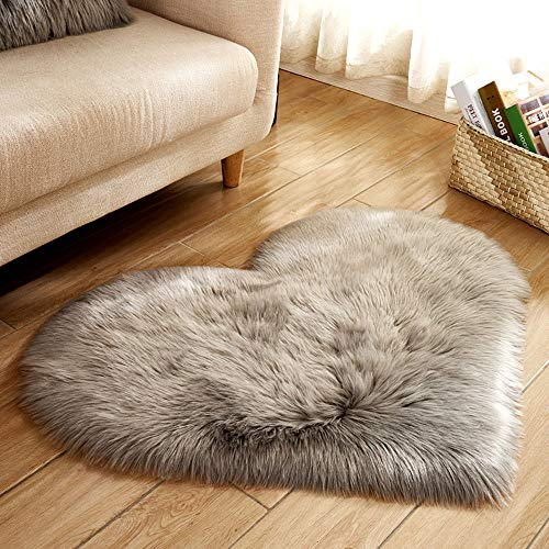 Teppichmatten für Hochzeitszimmer Home Wohnzimmer Stuhl Bereich Dekoration Wolle Nachahmung Schaffell Teppiche Kunstpelz rutschfeste Schlafzimmer Shaggy Teppiche(Mehrfarbig A,40 x 50 cm)