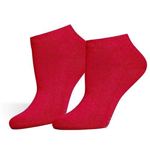 SaferSox Odor Control Calcetines Tobilleros - Disponibles en muchos colores - Wear more. Wash less., 3 Pares Rojo, 39/42