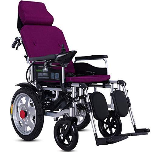 AAADRESSES Rollstuhl, Transportstuhl, Elektrisch Mit Klappbarer KopfstüTze Und Leichtem Tragbaren Elektrorollstuhl,...