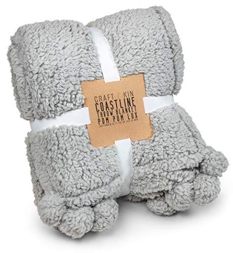 "Premium Grey Fleece Throw Blanket, Luxurious Fuzzy Blanket, Blankets And Throws, Ultra Soft Blanket, Fluffy Blanket,Plush Blanket, Thick Blanket, Plush Blanket, Fleece Blanket (Full Size, 60"" x 49.5"")"