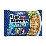 Nissin Top Ramen, Soy Sauce Flavor, The Original Instant Ramen, 3oz. (24-Pack)