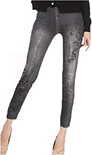 Women's Variety Washed Tights Leggings Denim Tenths Pants
