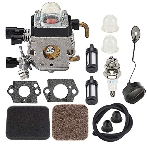 C1Q-S97 FS85 FS80 Carburetor Fit for Stihl FS75 FS80R FS85 FS85R FS85T FS85RX String Trimmer Weedeater w/Fuel Repower Kit Air Filter