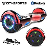 CITYSPORTS Patinete Elctrico Hover 6.5 Pulgadas Board, Self Balancing Scooter, Ruedas de Led Luces, Bluetooth, Motor 700W