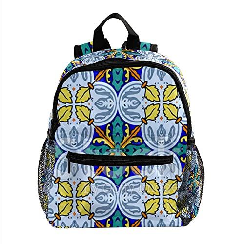 Rucksack Mädchen Junge Schultasche Modeaccessoires Schultasche Kinder Geschenk Kindergarten Rucksack mediterrane-Keramik-fliese
