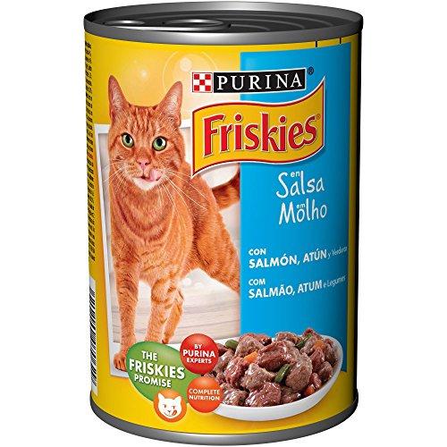 Purina Friskies en Salsa comida para gato Adulto con Salmón y Atún 24 x 400 g