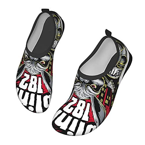 Blink 182 - Zapatos de agua unisex transpirables y antideslizantes, adecuados para juegos de playa, natación, surf, piscinas para niños y niñas, Black, 36/40 EU