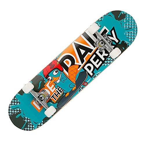 TTKD Tabla de Skate estándar Completa, 31'x 8' Tablas de Skate estándar Completo para niñas, niños, Principiantes, 7 Capas de Arce Canadiense, patinetas cóncavas de Doble Patada para niños, jóvenes,