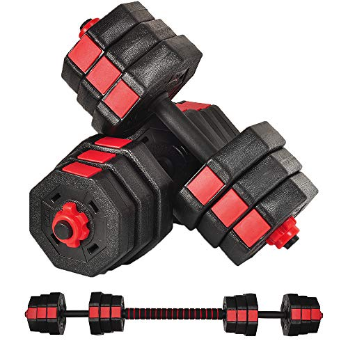 WATMAID Weight Dumbbells Set, Adjustable Weight to 44Lbs, Barbell Set for Men and Women Home Fitness Weight Set Gym Workout Exercise Training with...