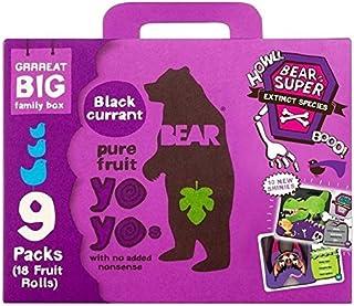 Bear Fruta Paquete De Yoyos Familia De Grosella Negra 9 X 20g