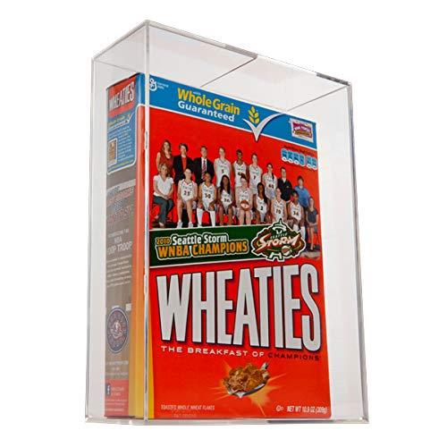 BallQube Cereal Box Holder Display - Sports Memoriablia Display Case - Sports Memorabilia Wheaties Box (Made in USA)