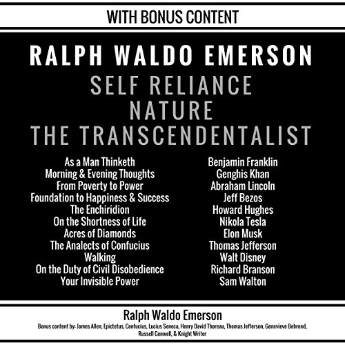 Self Reliance, Nature, The Transcendentalist audiobook cover art