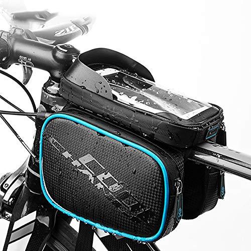 YHDQ Schlauchtasche auf Fahrradtasche, Professionelle Fahrradausrüstung Über 1L Fahrradreparaturwerkzeug Tasche Tasche Kann 6,2 Zoll Großbild-Handy halten