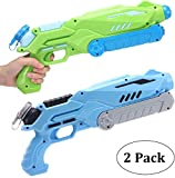 AiTuiTui 2 Pack Super Soaker Water Pistols, Powerful Water Gun for Kids Adults-Long