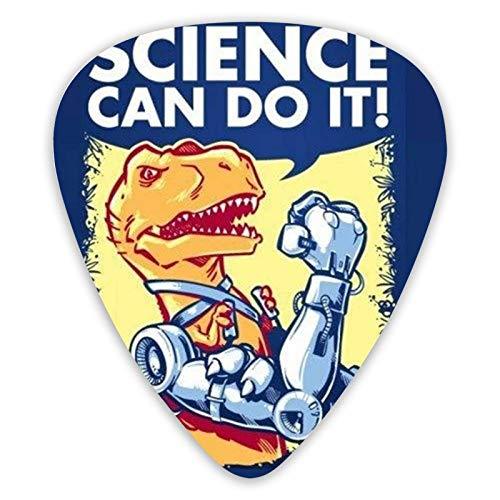 Science Can Do It Púas de guitarra, 12 púas de guitarra para guitarra eléctrica y bajo